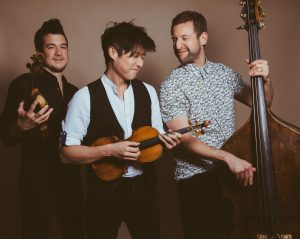TIME FOR THREE musicians: Ranaan Meyer, Double Bass; Nick Kendall, Violin; Charles Yang, Violin